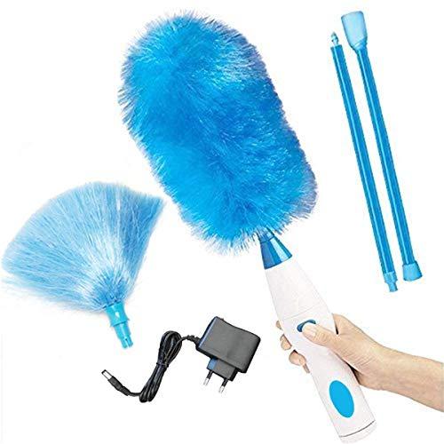 Spin Duster - Duster eléctrico multifunción a pilas 360 grados, giratorio, motorizado, Dust Wand eléctrico Spinning, cepillo de limpieza recargable