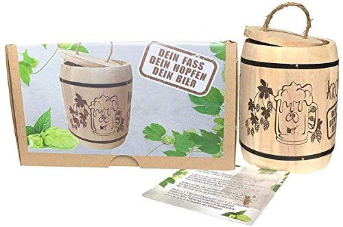 KRONLY Biergeschenk Anzuchtset Hopfen Männergeschenk - Hopfenpflanze, Geschenk für Männer Gadget Vatertag Weihnachtsgeschenk