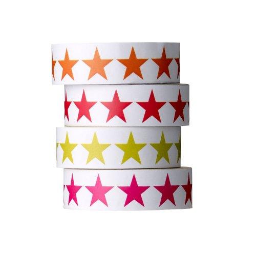 Adhésif Bloomingville motif à étoiles, lot de 4