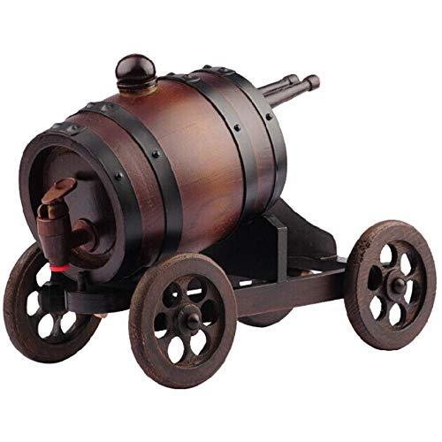L-WSWS - Botellero de madera con infusor de alcohol, roble y vino, para decoración de manualidades, regalo de inauguración de la casa para hombres, color marrón, tamaño: 15 x 24 x 30 cm