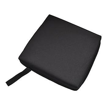 Wenyun Stadium Seat Cushion - Sports Cushion Seat Pad Set for Boat Stadiums Bleachers Chairs Seat  Black