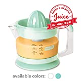 Dash Citrus Juicer Extractor: Compact Juicer for Healthy Juice, Oranges, Lemons, Limes, Grapefruit & other Citrus Fruit with Easy Pour Spout + 32 oz Pitcher - Aqua
