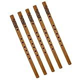 F Fityle Handcraft 5x Flautas de Bambú Verticales Xiao Instrumentos Tradicionales Chinos