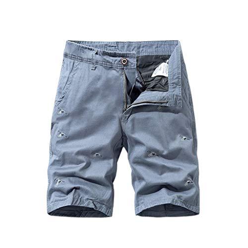 Aoogo Herren Overalls mit Mehreren Taschen Shorts Cargo Shorts Outdoor Sommer Freizeit Kurze Hose Baumwolle Arbeitsshorts
