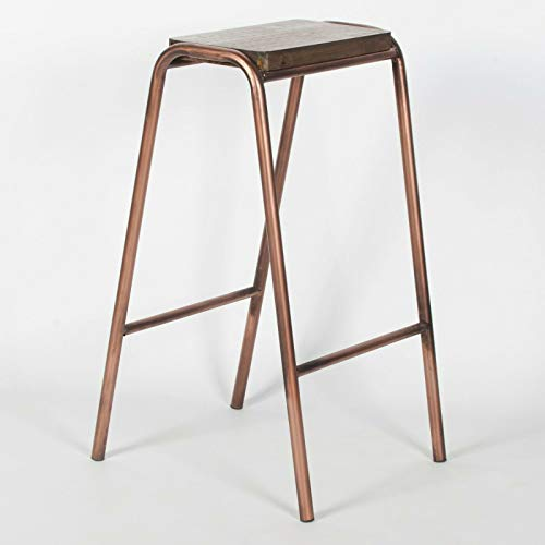 Maison INDUSTRIAL SCIENCE SCHOOL LAB COPPER STYLE STEEL WOODEN BAR STOOL PUB CAFE