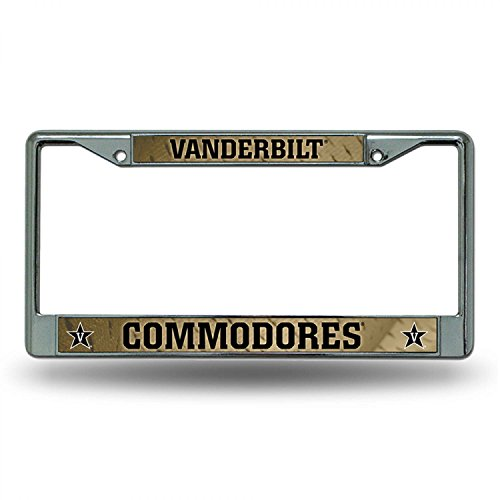 Price comparison product image Rico Industries NCAA Vanderbilt Commodores Standard Chrome License Plate Frame
