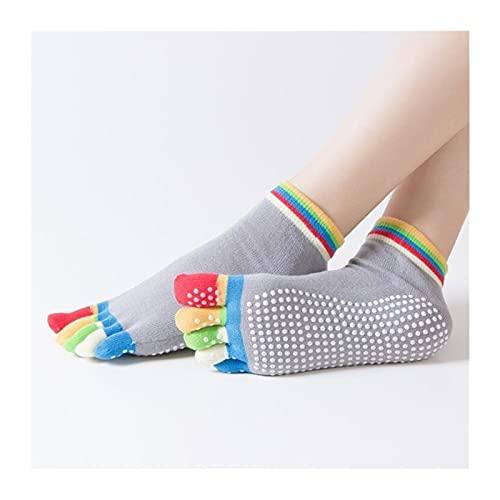Mianyang Damas Antideslizantes Yoga Calcetines De Secado Rápido Pilates Ballet Calcetines Damas Calcetines Deportivos De Algodón (Color : Blue1, Size : One Size)