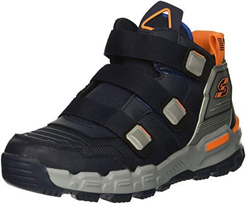 Skechers Kids Boy s Adventure Track Sneaker, Navy Silver, 12 Medium US Little Kid