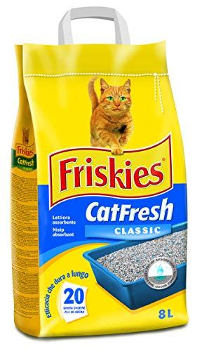 PURINA FRISKIES Lettiera Cat Fresh Classic, 1 confezione da 5 kg, 8 l