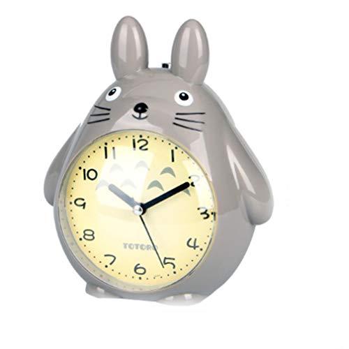 Totoro Cartoon wekker Pratende kinderen Student Nachtkastje dempen Lichtgevende wekker