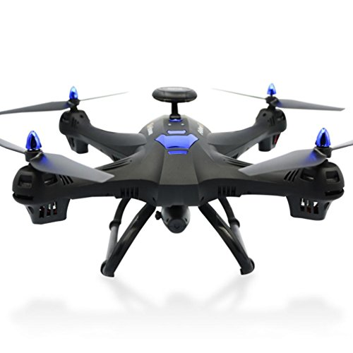 Amiley Global Drone 6-Axes X183 with 2MP WiFi FPV HD Camera GPS Brushless Quadcopter (Black)