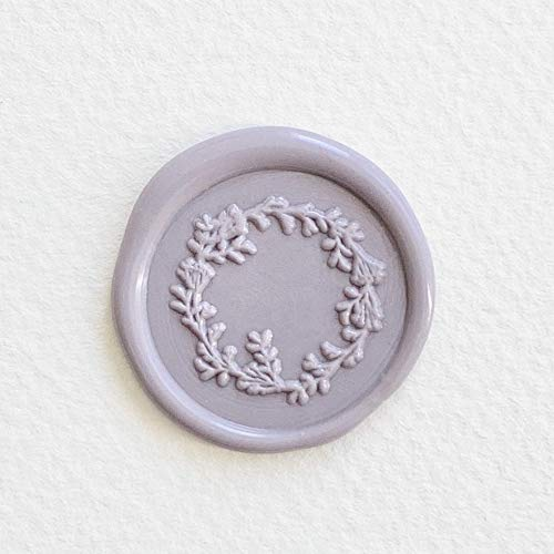 UNIQOOO Garden Wreath Wild Floral Wax Seal Stamp | Botanical Garland Stamp Perfect for Wedding Invitation, Cards, Tags, Envelope, Snail Mail, Gift Wrap, Wine Package,Bullet Journal DIY Project