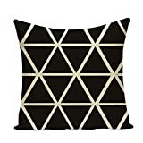 QTYVI 2 Piezas Funda cojín Navidad Funda de Almohada Decorativa Abstracta Throw Pillow Black White Diamond Funda de cojín para sofá Capa de almofada