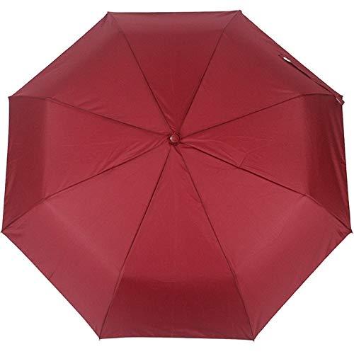 NJSDDB paraplu Nieuwe Automatische Paraplu Regen Vrouwen Mannen 3Vouwen Licht en Duurzame Sterke Kleurrijke Paraplu's Kinderen Regenachtige Zonnige Groothandel Prijs, Rood