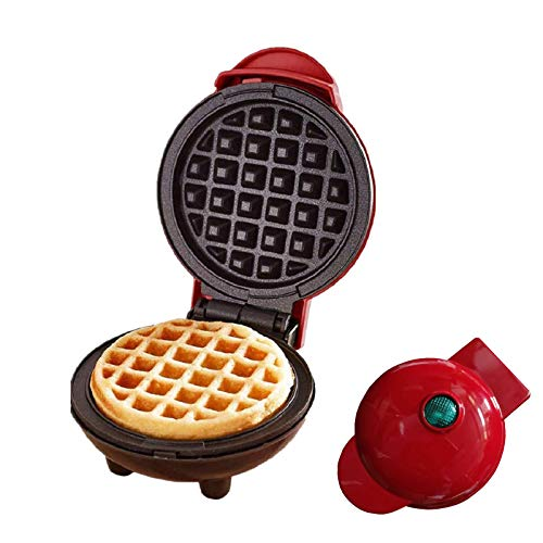 Mini Waffeleisen, Elektrische Antihaft-Waffelmaschine für einzelne Waffeln, Paninis, Pfannkuchen, Rösti, schnelles Frühstück, Mittagessen oder Snacks