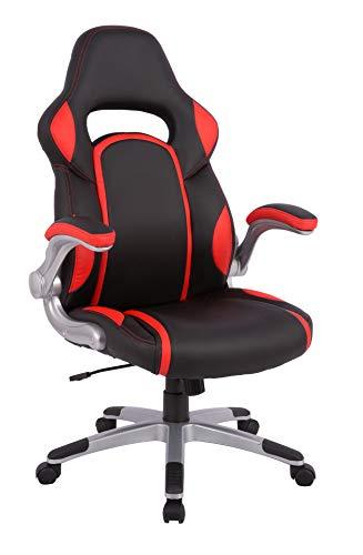 Amazon Basics AmazonBasics Racing Style Executive Chair with Adjustable armrests-Black & Red, 71 x 69 x116.5 cm