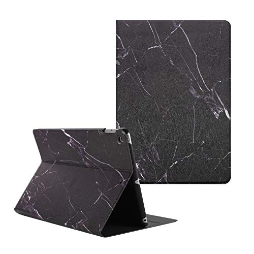 Artcase iPad 8th/7th Generation (10.2 inch) Case, Marble Case PU Leather Stand Cover with Auto Wake/Sleep for Apple iPad 10.2'' 2020/2019 (Black Marble)