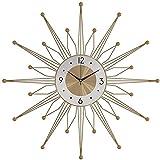 LXDZXY Reloj de Pared Reloj de Pared de Metal Reloj de Moda en la Sala de Estar Home Creative Clock Decoración del hogar Reloj de Pared