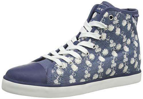 Geox JR CIAK Girl B Hohe Sneaker, Blau (Avio C4005), 38 EU