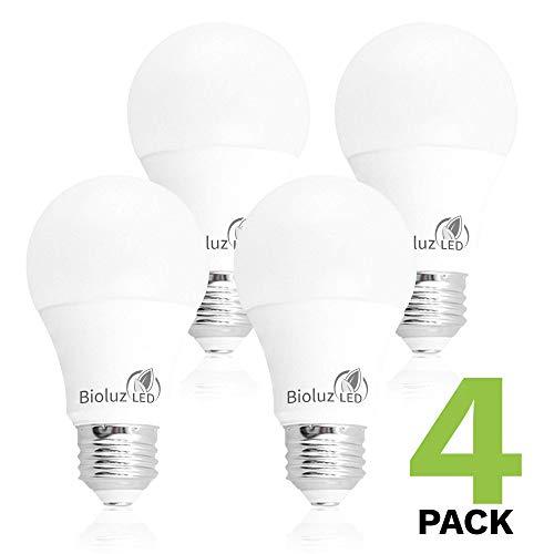 Bioluz LED 40/60/100W Replacement 3-Way A19 LED Light Bulb 3000K Soft White Color (4-Pack)