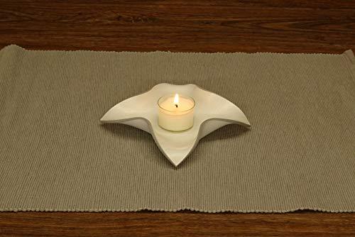 4er Set - Design-Teelicht/Stumpfkerzen-Halter FOUR-STAR (Weiß lackiert)