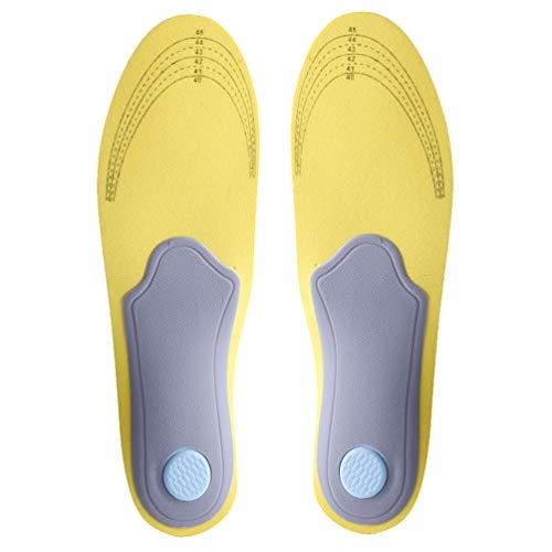 Holibanna Plantilla de Zapato Insertos Ortopédicos de Zapatos Plantillas de Fascitis Plantar Ayuda para Vestirse Cuttable para Hombres Mujeres Niños Ancianos Ancianos