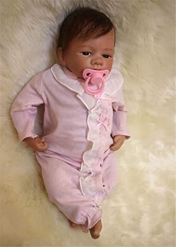 ZIYIUI Muñeca bebé Renacida Reborn Baby Doll Niño Real Juguete Simulación de Vinilo Silicona Niña Niño muñeca 20 Pulgadas