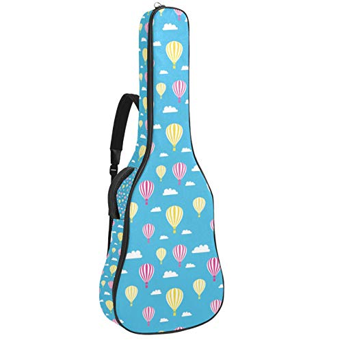 Bolsa para Guitarra Globos Aerostáticos Amarillo Funda para Guitarra Acústica Clásica y...
