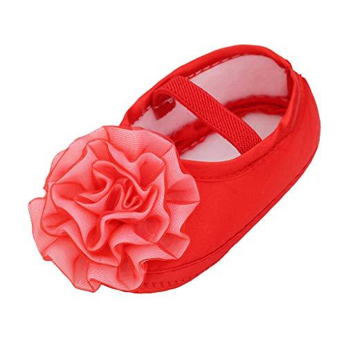Eldori 幼児の靴 ファッション 可愛い 滑り止め 公園遊び 出産お祝いプレゼント新入生女 赤ちゃん1PCヘアバンド+無地 花デカール幼児 靴ソフトソール 靴 発表会 卒入園式 子供シューズ 0〜18ヶ月