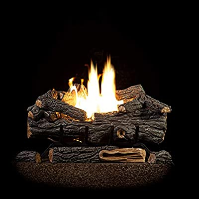Sure Heat Riverside Oak Vent Free Dual Burner Log Set