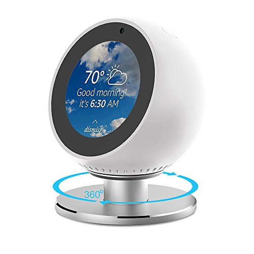 ANCOOL Compatible with Echo Spot Stand Adjustable Viewing Angle 360 Degree Rotation Full Aluminum Stand Mount with Strong Magnetic and Precision Bearings Bracket Replacement for Echo Spot-Black