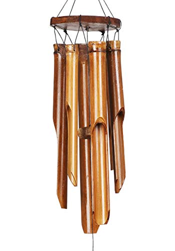 EcoAlt Bamboo Wind Chimes Ideal for Both Indoor and Outdoor (Patio, Garden, Porch, Backyard) - Natural, Calming and Relaxing Tones