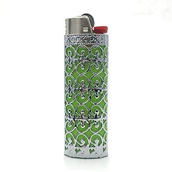 Lucklybestseller Metal Lighter Case Cover Holder Hollow Design for BIC Full Size Lighter J6