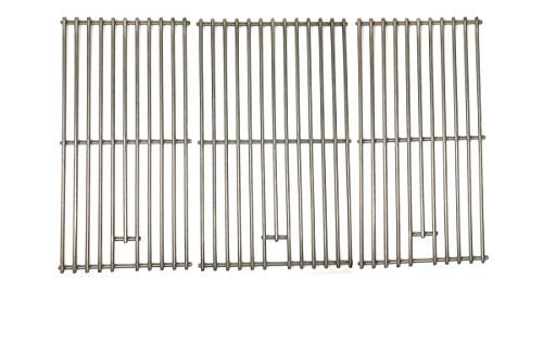 Replacement Stainless Steel Cooking Grid for Members Mark BQ05046-6, BQ05046-6A, BQ06042-1, BQ05046-6N-A, B09SMG-3, B09SMG1-3F & Master Forge B10LG25 Grill Models, Set of 3