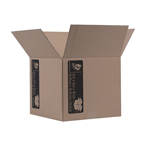 Duck Brand Kraft Corrugated Shipping Boxes, 12' x 12' x 10.5', Brown, 6-Pack (281503)