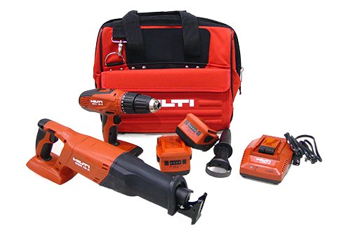 Hilti 03497682 SFH 18A and WSR 18-A 18-volt Cordless Impact Driver and Reciprocating Saw Combo Including Soft Case