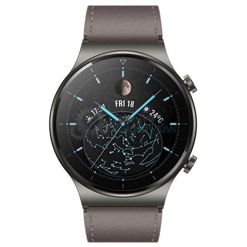 """HUAWEI WATCH GT 2 Pro - Smartwatch con pantalla AMOLED de 1.39"""", hasta dos semanas de batería, GPS y GLONASS, SpO2, +100 modos de entrenamiento, llamadas bluetooth, color gris"""
