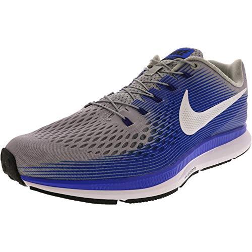 Nike Men's Zoom Pegasus 34 Flyease Running Shoe (10 D(M) US, Wolf Grey/White-Racer Blue)