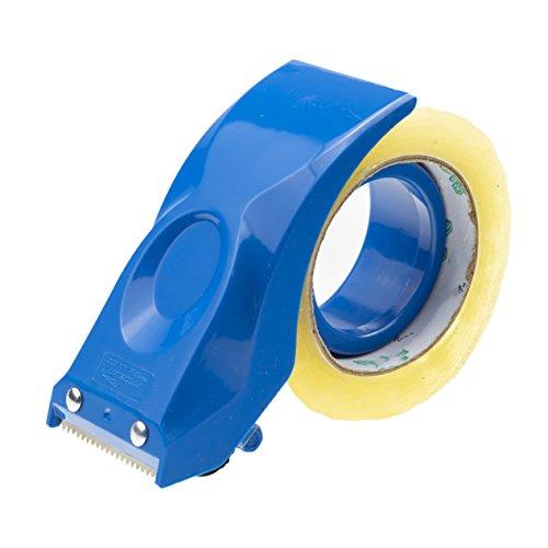 Prosun Dispensadores de Cinta Adhesiva - Dispensador de pistola de montaje fácil, 50 mm (2 pulgadas), cortador de sellado de embalaje, azul, herramientas de almacén de mano