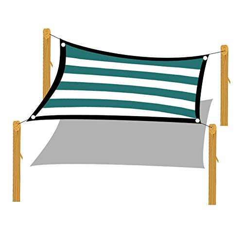 Filet d'ombrage Toile D'ombrage 95% Sun Shade, Toile D'ombrage Robuste avec Bord Scellé Foncé pour Pergola Cover Porch Vertical, Bandes Vertes (Size : 4×8m)