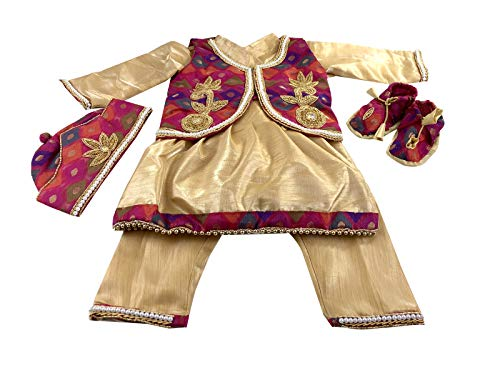 Srawen Nepali Baby Weaning Dress-Nepalese Dhaka Pasni Dress-Annaprashan Outfits Red