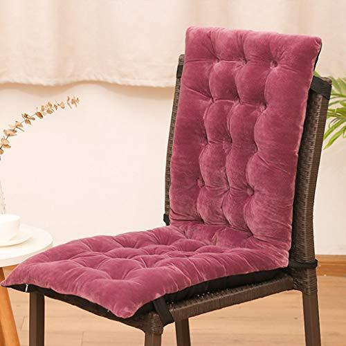 JYSD Cojín de sillón reclinable cojín de la Silla Mecedora integrada Algodón Mat Espesar y Otoño Invierno Plegable Silla Lazy Mat D5/18 (Color : Rose, Size : 125x50x10cm)