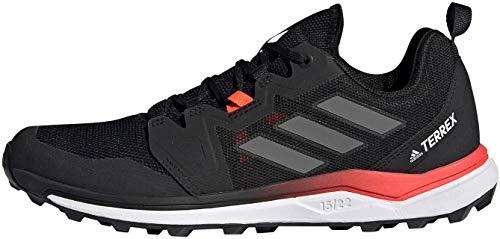 adidas Terrex Agravic, Zapatillas de Trail Running Hombre, NEGBÁS/Gricua/Rojsol, 45 1/3 EU