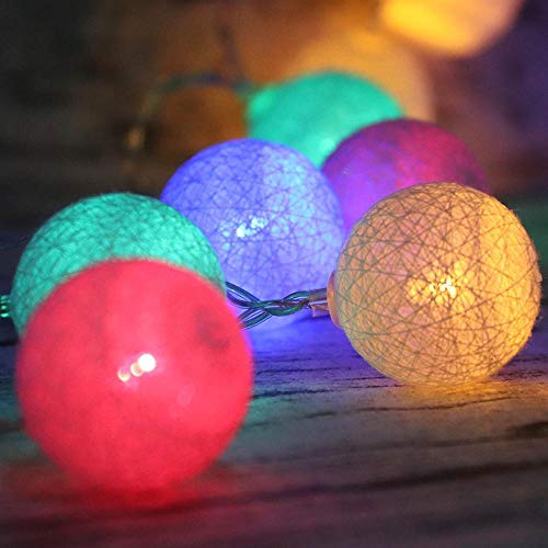 Guirnalda de luces LED para Navidad, luces de Navidad, luces de Navidad, luces USB, carga de batería, luz de boda, suministro -RVB_3M 20 LED (USB), boules de 5 cm