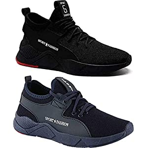 Ethics Stylish Comfortable Casual Sneaker Men's Combo (Pack of 2) Shoes