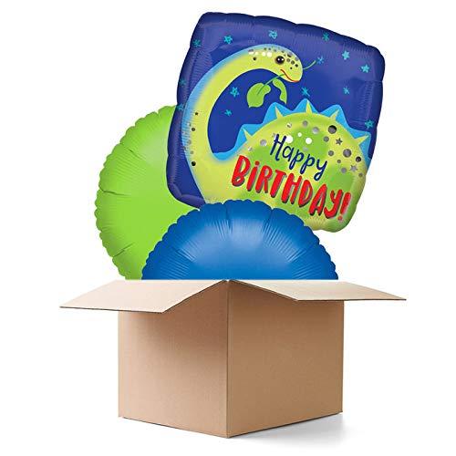 CREATIV DISCOUNT Ballongrüße / Geschenkballons / Ballonversand, Dino Brontosaurus, 3 Ballons