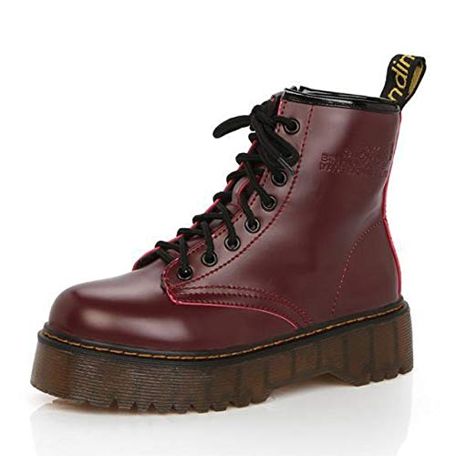 ACWTCHY Platform Enkellaarzen Voor Vrouwen Laarzen Pluche Warm Vrouwen Winter Laarzen Voor Martin Laarzen Vrouwelijke Winter Schoenen Laarzen Vrouwen Schoenen