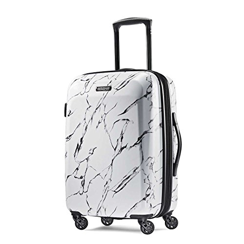 American Tourister Moonlight Hardside Expandable Luggage with Spinner Wheels, Marble