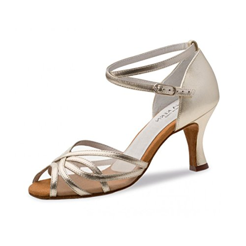 Anna Kern - Damen Tanzschuhe 740-60 - Leder Gold - 6 cm [UK 4.5]