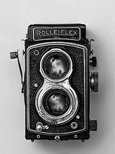 Póster de cámara antigua, negro, blanco, Vintage, cámara, impresión, regalo, Hipster, fotografía, arte de pared, lienzo, pintura, decoración Retro, 40X60Cm sin marco